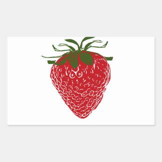 Strawberry: Rectangular Sticker