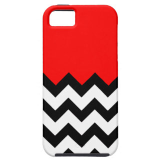 Strawberry Red Pattern On Large Zigzag Chevron iPhone 5 Case