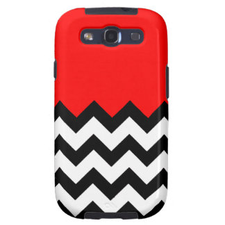 Strawberry Red Pattern On Large Zigzag Chevron Galaxy SIII Case