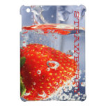 Strawberry red water in glass glossy fancy iPad mini covers