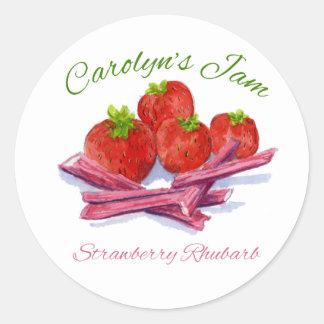 strawberry rhubarb label