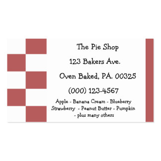 Strawberry Rhubarb Pie Colors Double-Sided Standard Business Cards (Pack Of 100)