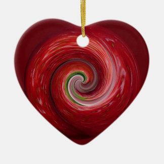 Strawberry Ripple Ceramic Ornament