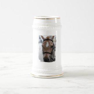 Strawberry Roan Horse  Beer Stein 18 Oz Beer Stein