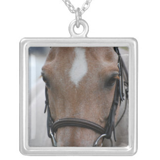 Strawberry Roan Horse Sterling Silver Necklace