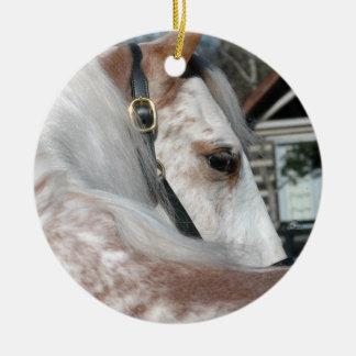 Strawberry Roan Walking Horse Ceramic Ornament