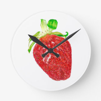 Strawberry Round Clock