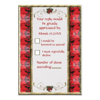 Strawberry RSVP 3.5x5 Paper Invitation Card