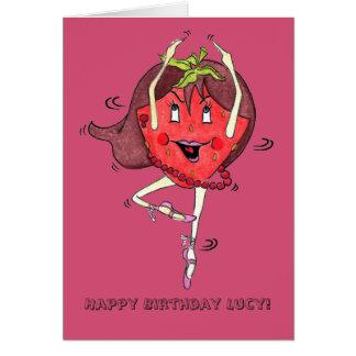 Strawberry Scarlett 'Happy B.day' Card