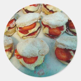Strawberry Scones/Cakes Classic Round Sticker