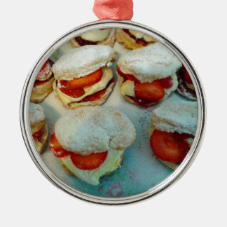 Strawberry Scones/Cakes Metal Ornament