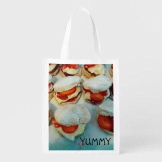 Strawberry Scones/Cakes Reusable Bag Reusable Grocery Bag