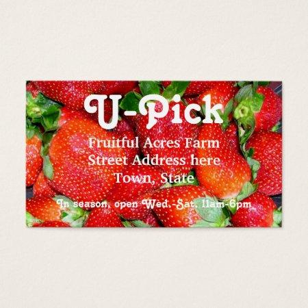 Strawberry Farming Business Cards