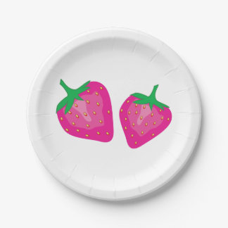 Strawberry 7 Inch Paper Plate