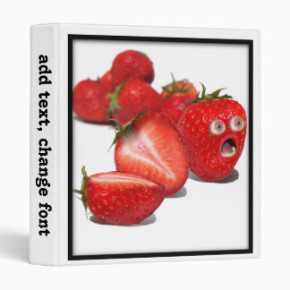 Strawberry Shock Vinyl Binders