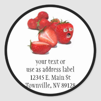 Strawberry Shock Classic Round Sticker