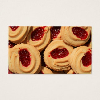 Strawberry Shortbread Cookies Business Cards