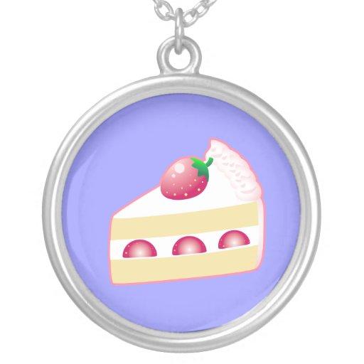 Strawberry shortcake round pendant necklace zazzle for Strawberry shortcake necklace jewelry