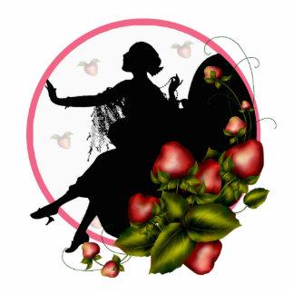 Strawberry Silhouette Cutout Sculpture