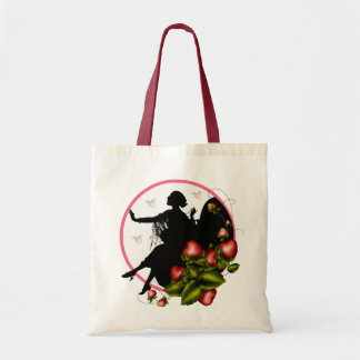 Strawberry Silhouette Stylish Tote Bag