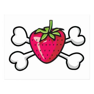 strawberry Skull and Crossbones Postcard