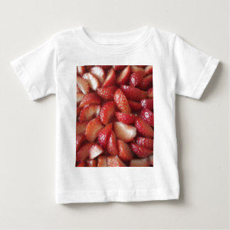 Strawberry Slices, Healthy Food Snack, Red Fruit Baby T-Shirt