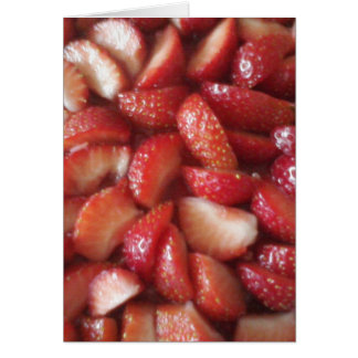 Strawberry Slices, Healthy Food Snack, Red Fruit Card