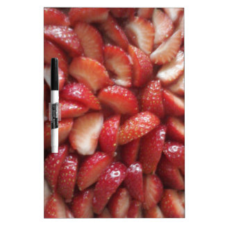 Strawberry Slices, Healthy Food Snack, Red Fruit Dry Erase Board