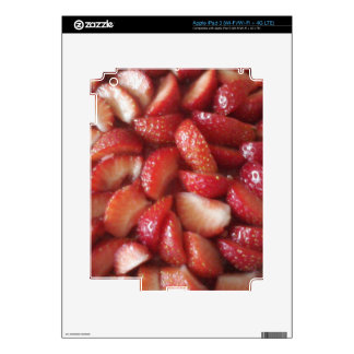 Strawberry Slices, Healthy Food Snack, Red Fruit iPad 3 Decals