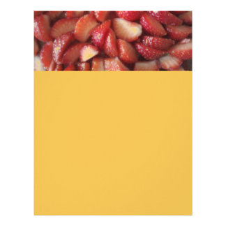 Strawberry Slices, Healthy Food Snack, Red Fruit Letterhead