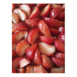 Strawberry Slices, Healthy Food Snack, Red Fruit Postcard