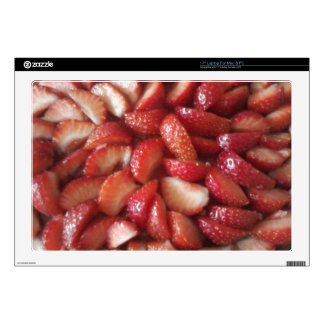 """Strawberry Slices, Healthy Food Snack, Red Fruit Skin For 17"""" Laptop"""