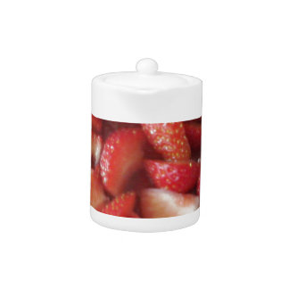 Strawberry Slices, Healthy Food Snack, Red Fruit Teapot