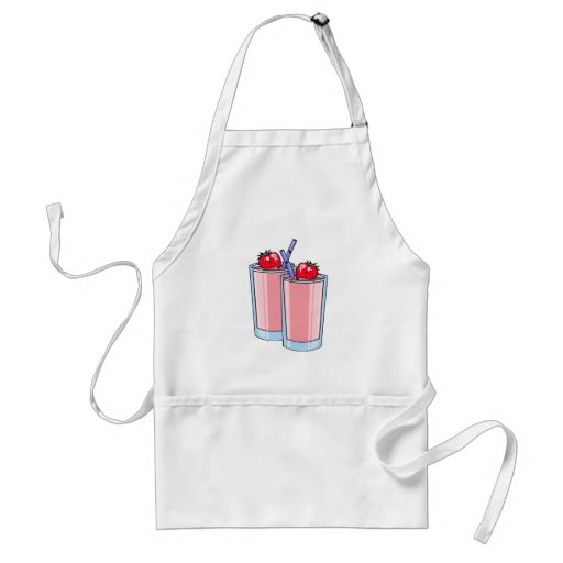strawberry smoothie adult apron