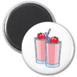 strawberry smoothie fridge magnet