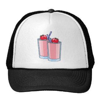 strawberry smoothie mesh hats
