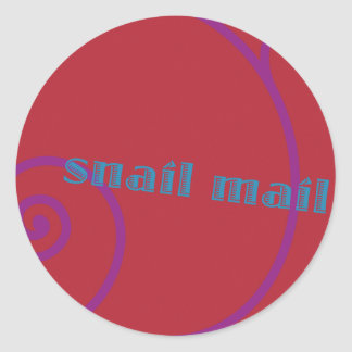 Strawberry Snail Mail Classic Round Sticker