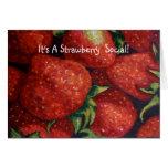 STRAWBERRY SOCIAL INVITE, Realism Art Greeting Card