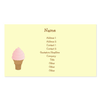 Strawberry Soft Serve Business Card Template