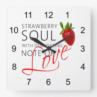 Strawberry Soul Square Wall Clock