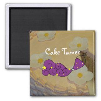 Strawberry Spiral Cake and Cake Tamer Magnet