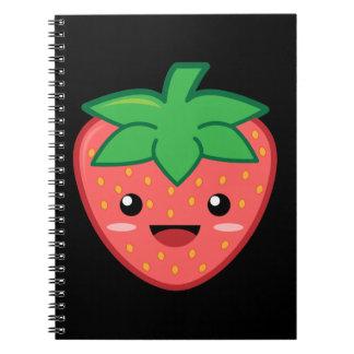 Strawberry Spiral Notebook