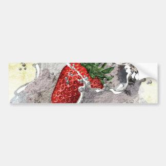 Strawberry Splash Bumper Stickers