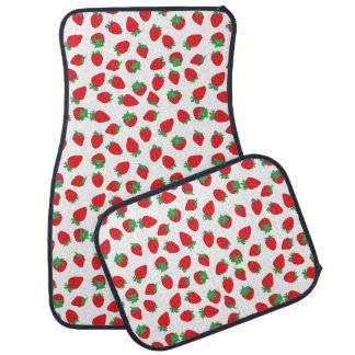 Strawberry Sprinkle Wallpaper Car Mat