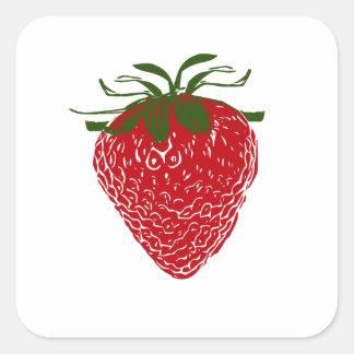 Strawberry: Square Sticker