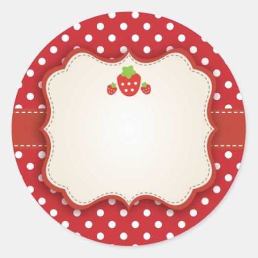 Strawberry Sticker Label