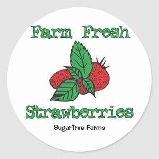 Strawberry Stickers - Farm Fresh Strawberries