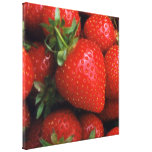STRAWBERRY STRETCHED CANVAS PRINTS