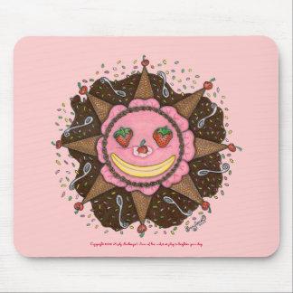 Strawberry Sun Days - Mousepad (pink)