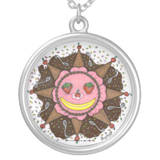 Strawberry Sun Days - Round Necklace